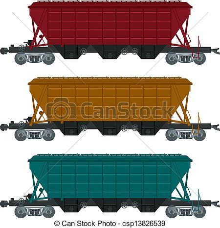 Vectors of Freight car.