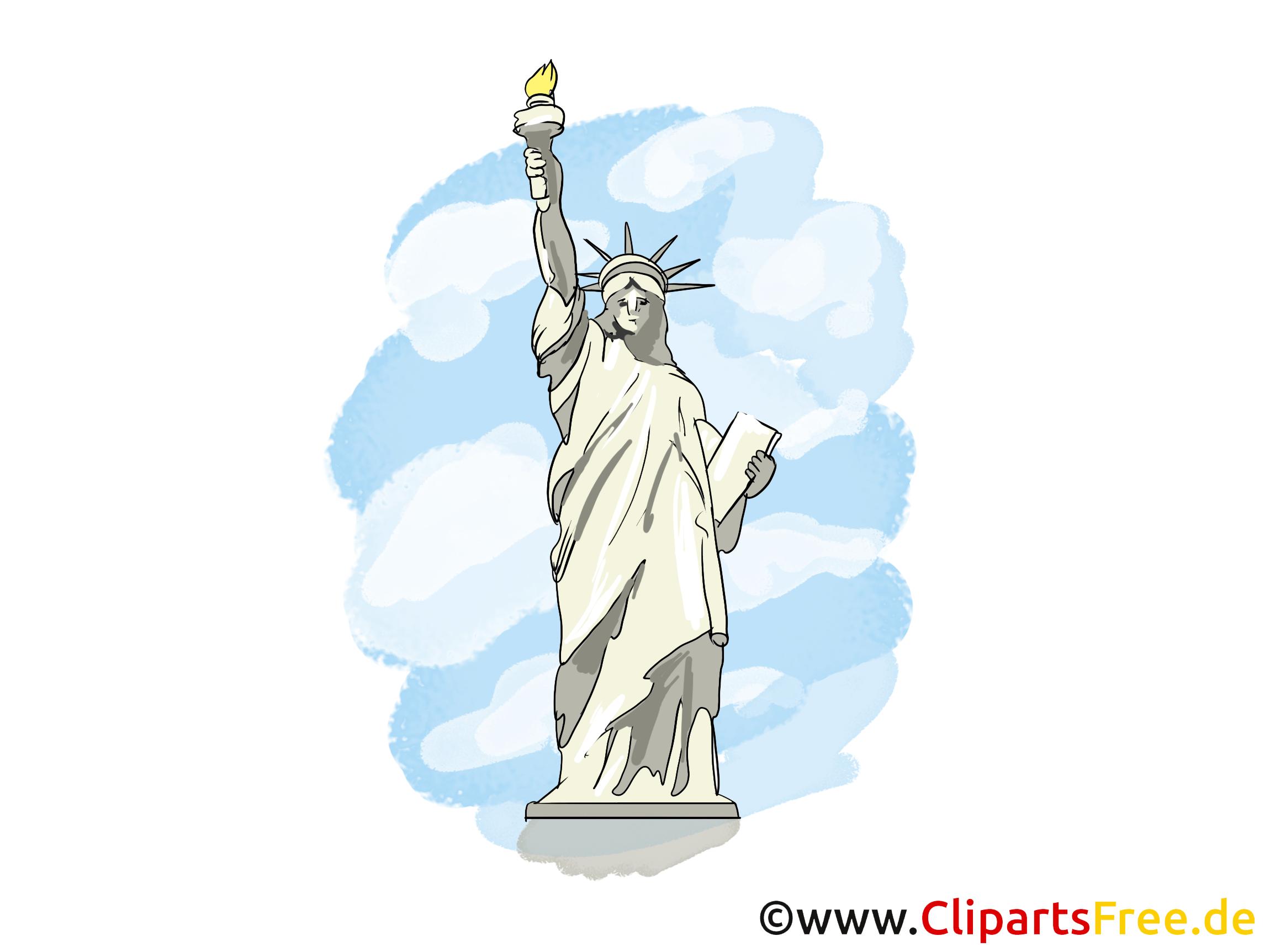 Freiheitsstatue Bild, Clipart, Grusskarte gratis.