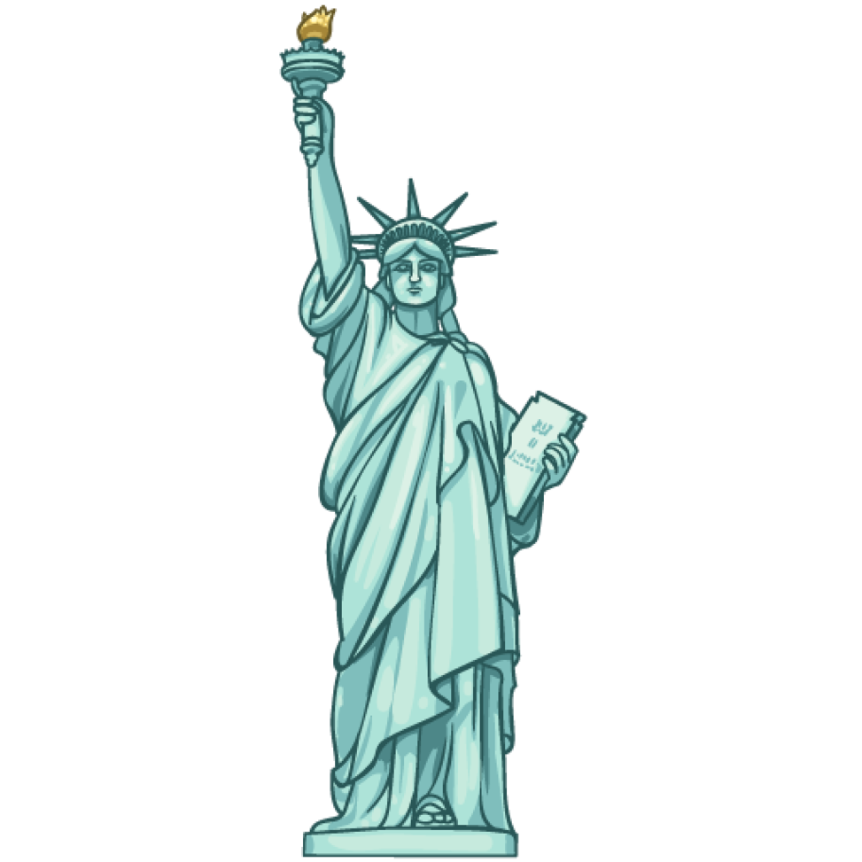 Clipart statue of liberty.