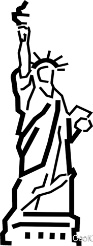 Statue of Liberty Royalty Free Vector Clip Art illustration.