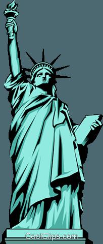Freiheitsstatue Vektor Clipart Bild.