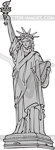 The Statue Of Liberty In New York Vector Image #q3XgjY.