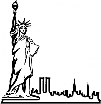 Statue Of Liberty Drawing.