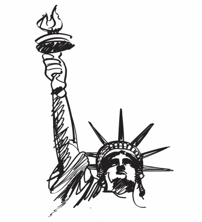 Statue Of Liberty Draw.
