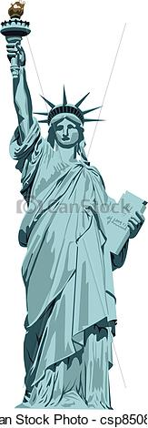 Vector Clipart of statue of Liberty.