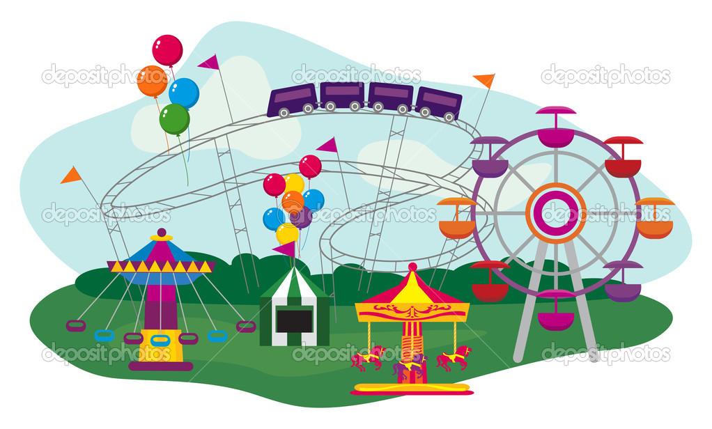 Amusement Park — Stock Vector © dayzeren #31649705.