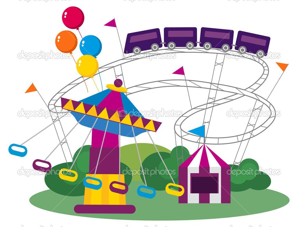 Amusement Park — Stock Vector © dayzeren #31649701.