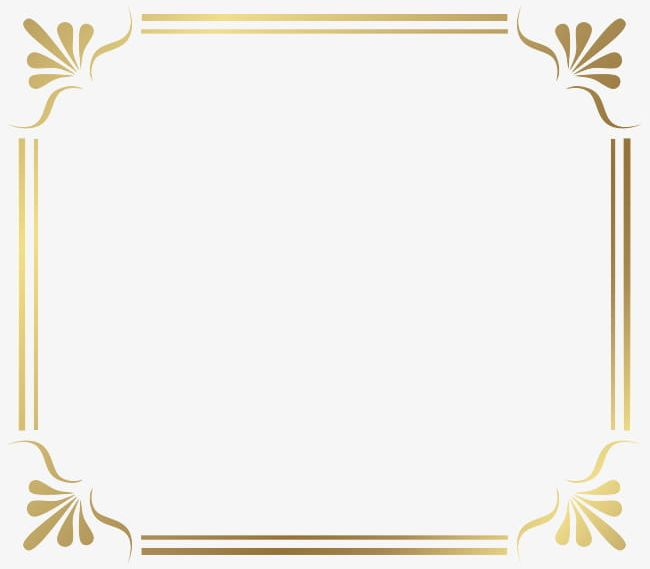 Golden French Border PNG, Clipart, Art, Art Pattern, Backgrounds.