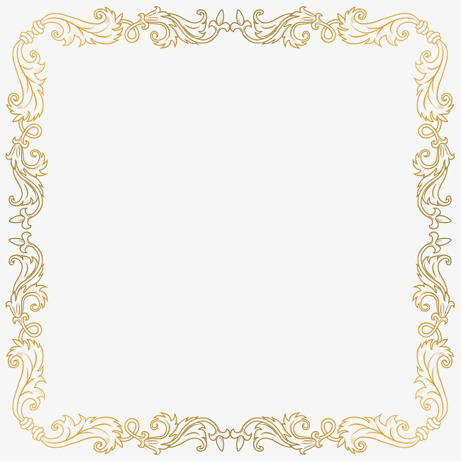 Rectangular French Pattern Border Png Picture, French Clipart.