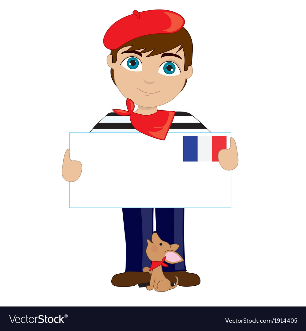 French Boy Sign.