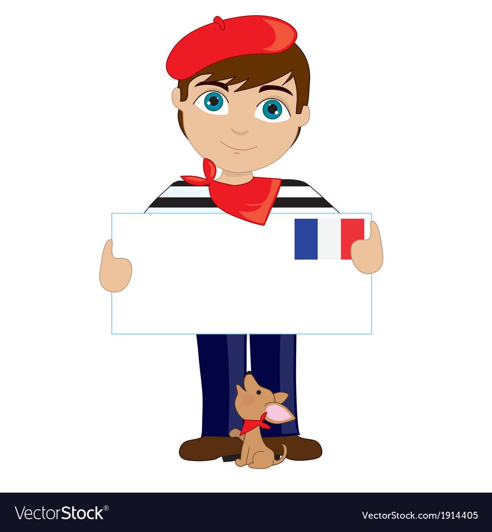 French Boy Sign.