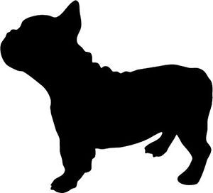 Free French Bulldog Clipart Black And White, Download Free.