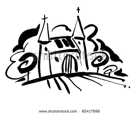 French Chateaux On A Hill Stock Vector Illustration 80417998.