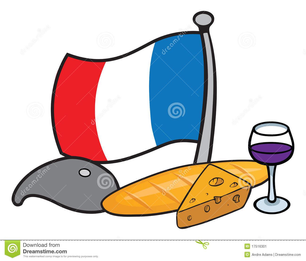 France Food Clipart.