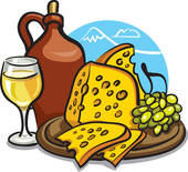 Wine And Cheese Clip Art.