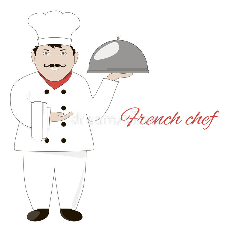 Funny French Chef Stock Illustrations.