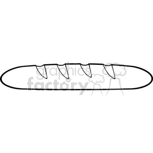 illustration black and white cartoon french bread baguette vector  illustration isolated on white background clipart. Royalty.