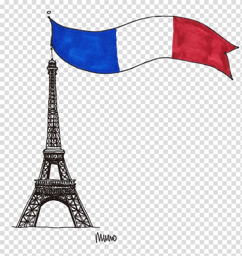 Flag of France French Paris Bistro Brie & Bordeaux , Paris.