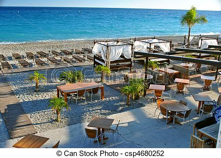 Stock Photo of France, Nice: The French Riviera famous places.