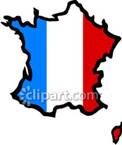 French Country Painted Like the French Flag.