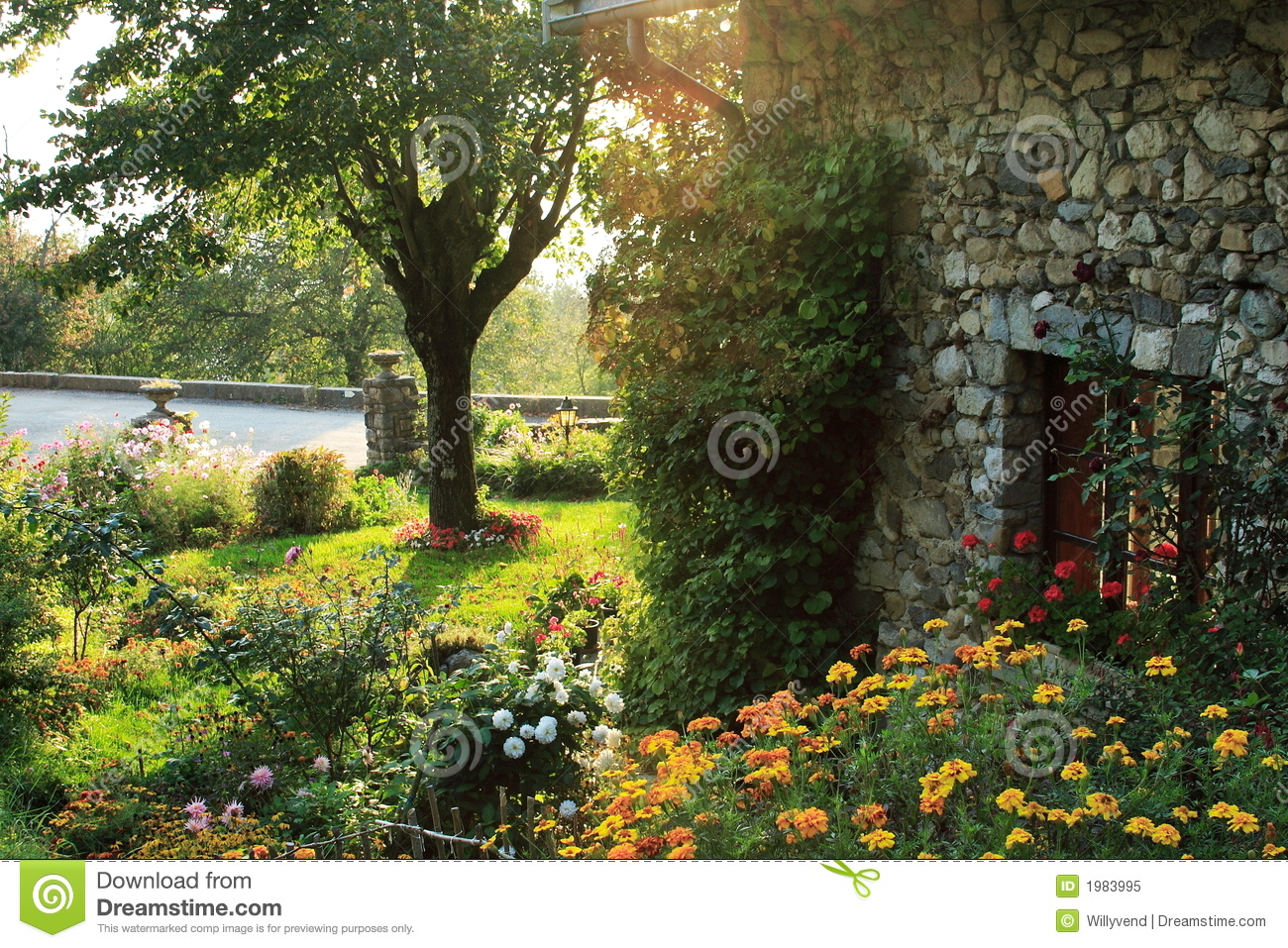 Garden In The French Countryside Royalty Free Stock Photo.