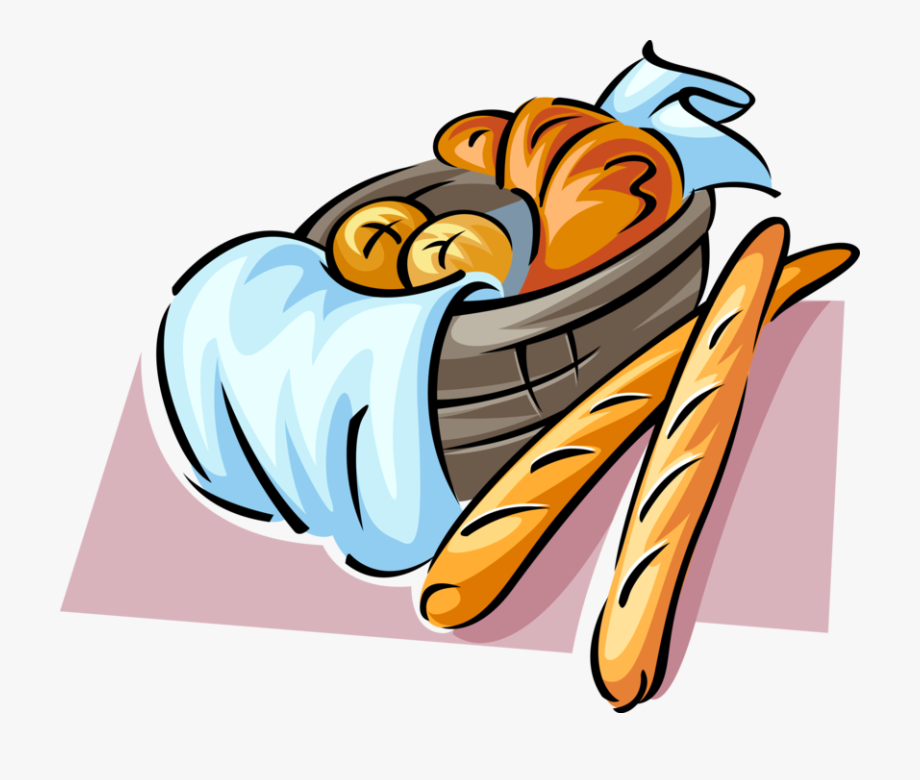 Clip Transparent Library French Bread Clipart.