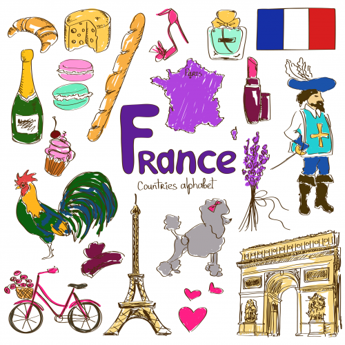 France Culture Map Printable.