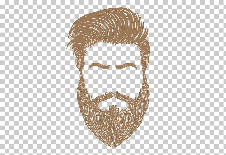 Beard Capelli Woman, Beard, brown hair illustration PNG.