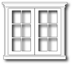 White house french doors clipart.