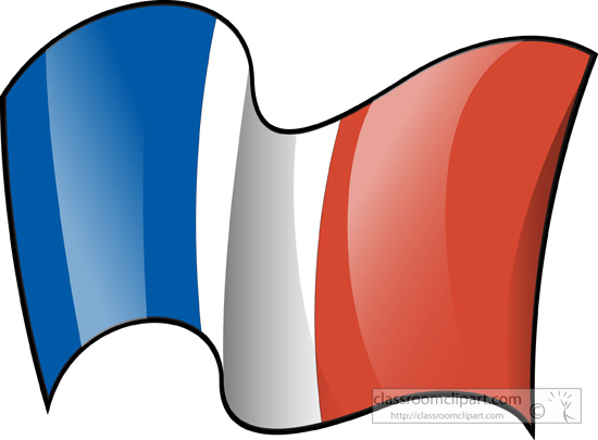 French Flag Clipart.
