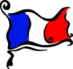 Paris flag clipart.