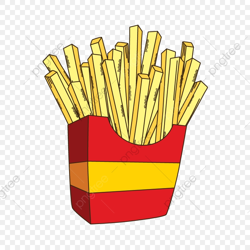French Fries Cartoon, Cartoon, Sketch, Frenc Fries PNG and Vector.
