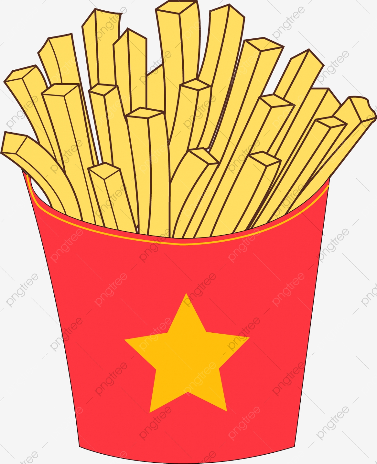 French Fries, Fries Clipart, French Clipart, Beautiful PNG.