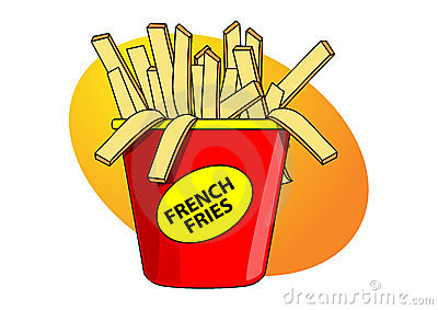 Clip Art French Fries Royalty Free Stock Image.