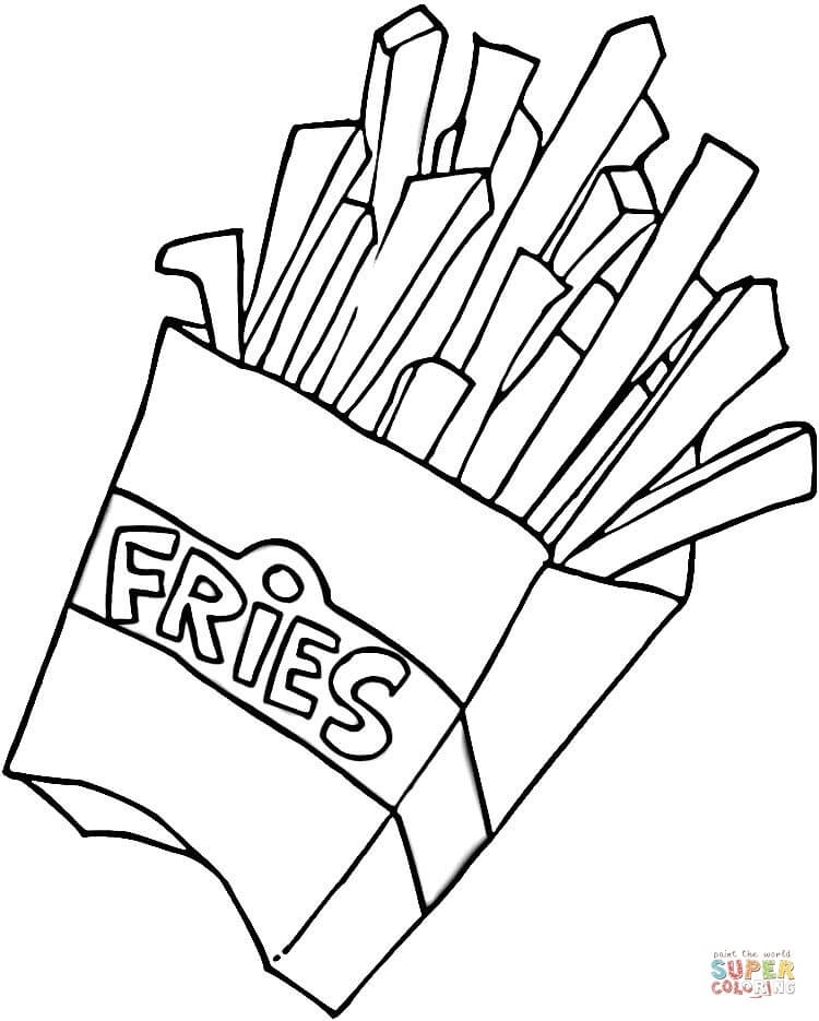 French Fries Clipart Black And White.