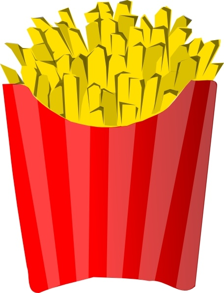 French Fries clip art Free vector in Open office drawing svg.