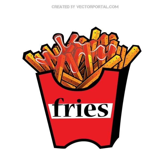 French fries vector clip art. in 2019.