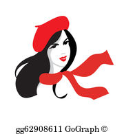 French Girl Clip Art.