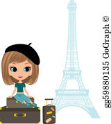 French Girl Clip Art.