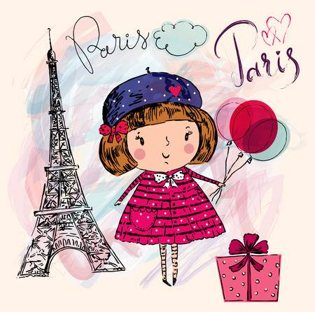 3,875 French Girl Stock Vector Illustration And Royalty Free French.