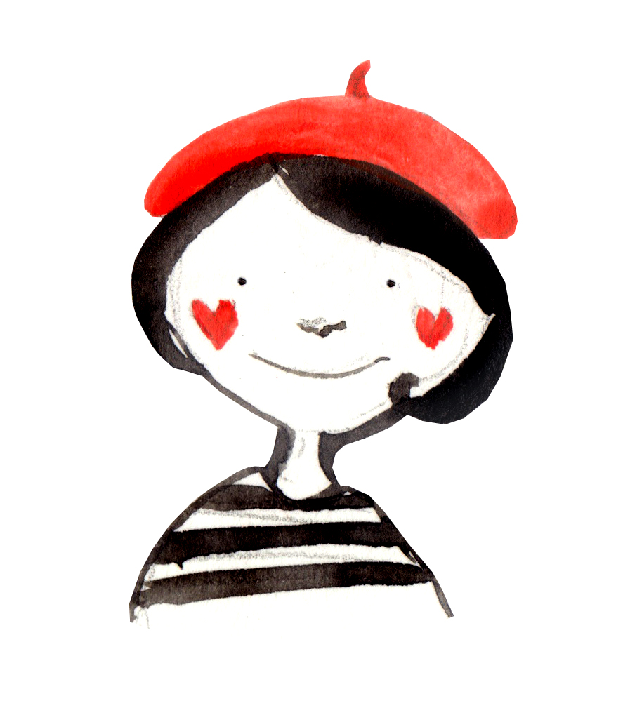 French Girl Clipart.