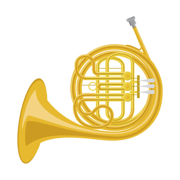 Best French Horn Illustrations, Royalty.