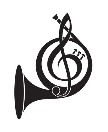 1,363 French Horn Stock Vector Illustration And Royalty Free French.