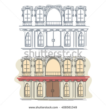 House Facade Stock Images, Royalty.