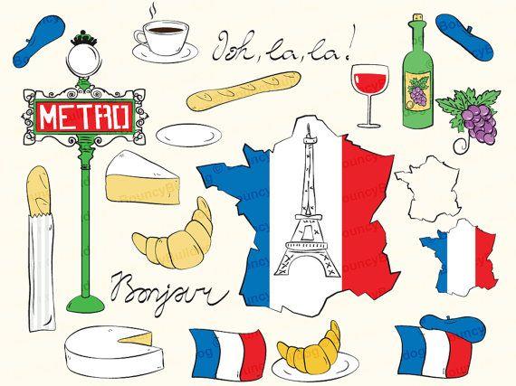 France clipart eiffel tower paris clipart map french flag.