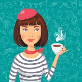 Free French Girl Clipart and Vector Graphics.