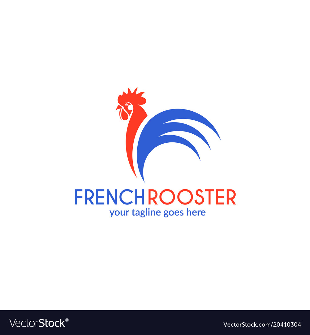 French rooster logo.