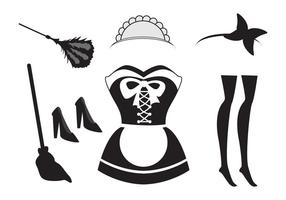 French Maid Free Vector Art.