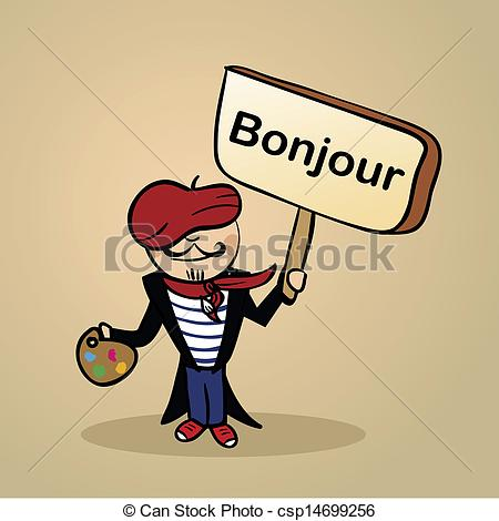 French Man With Sign Clipart Clipground