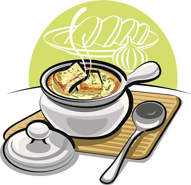 Best French Onion Soup Illustrations, Royalty.
